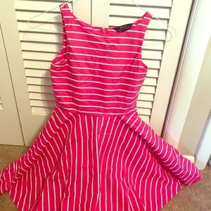 pink and white striped polo by ralph lauren dress